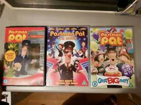 Postman Pat DVDs X3