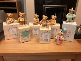 Cherished Teddies - Seven Halloween themed bear figurines