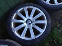 Volkswagen R36 Style Alloy Wheels 18inch 5x100 Golf BORA LEON Fabia