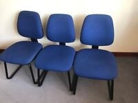 Blue meeting room chairs
