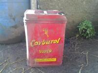 carburol antique oil can