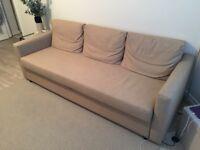 FRIHETEN three-seat sofa bed (beige) - excellent conditions