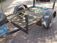 Trailer 6 x 4 ,cast iron 50 mm hitch,spares or repair,£10