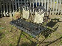2 Seater Metal Bench 1930's