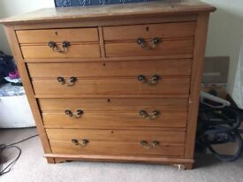 Lovely solid large chest of drawers