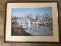 LARGE PICTURE AYLESFORD BRIDGE BY ROWLAND HILDER