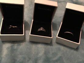 Beautiful Pandora rings