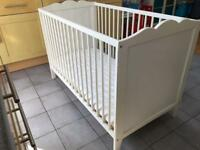IKEA Hensvik cot, white. Optional bedding