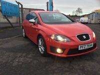 2012 SEAT LEON 2.0 TDI CR FR 140 BHP ANNUAL TAX RATE £115