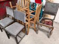 Old dining chairs for refurbishment