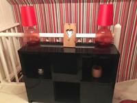 Table Lamps x 2 Red
