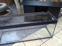 5ft aquarium with base and cupboards