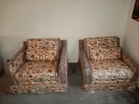 Two arm chairs great for up styling