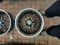 5x120 8 1/2j et 40 bmw dished alloys