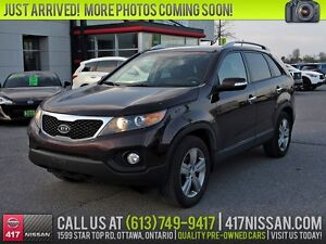 2013 Kia Sorento EX Luxury V6 | Leather, Pano Moonroof, Rear Cam