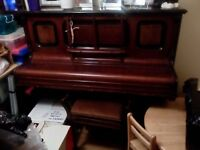 Piano H.Rosner. dark wood . Reasonable condition for age. Free to good home!
