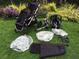 City select jogger double buggy