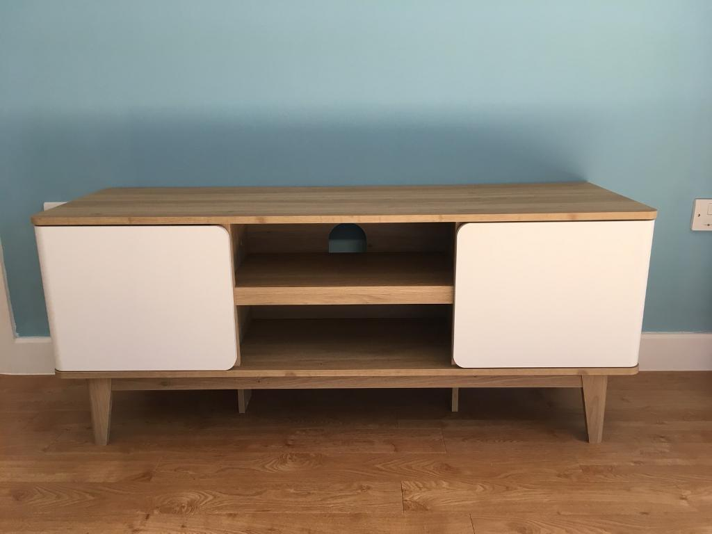 Next Copenhagen Wide Tv Unit Real Wood In Bow London Gumtree # Meuble Tv Nesx