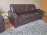 Art Deco style large leather sofa John Lewis/Sofa Workshop (matching armchair also available)