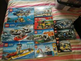 Boxed new lego. 3 on left £25 each. 3 in middle 15 each 2 top right 12 each small technic 10