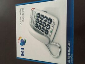 BT BIG BUTTON 200 PHONES BOXED AND IN EXCELLENT AS NEW CONDITION