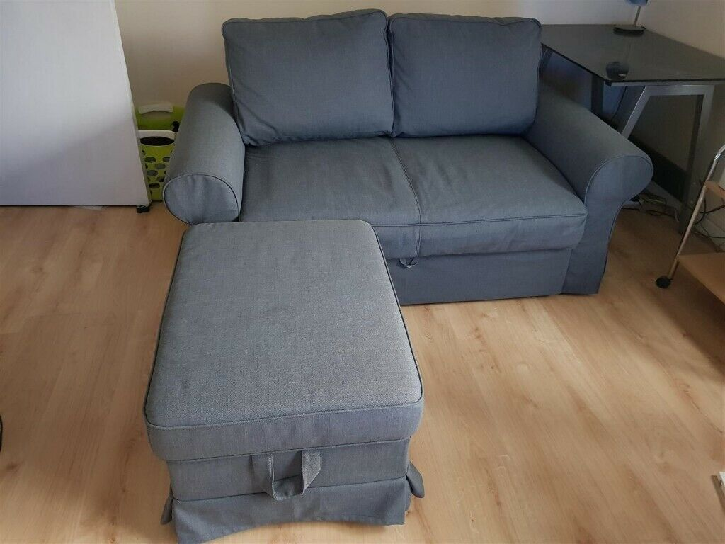 2 Seater Ikea Sofa Bed Grey Few Months Old Plus