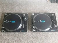 Stanton T62 direct drive turntables (Pair)