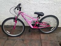 Apollo FS24 full Suspension girls bike