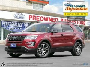 2017 Ford Explorer Sport>>>Captain's chairs, adaptive cruise<<<