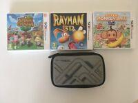 Nintendo 3ds + 4 games + SD Card + Protective case
