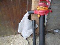 Leaf blower and vacuum with collection bag and blower tube vgc gwo