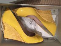 Shoes - yellow LK Bennett wedge