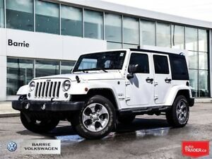 2018 Jeep Wrangler Unlimited Sahara! Removalble top AWD Bluetoot