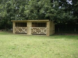 FIELD SHELTER 24 X 12 - £1450 DELIVERED AND ERECTED