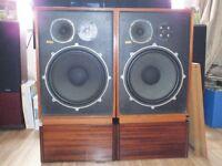 """Wharfedale """"Kingsdale 3"""" 15"""" sub three way loud speakers."""