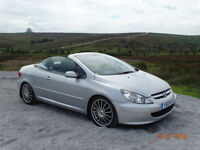 Stunning peugeot 307 cc. 12 months mot, perfect for this weather not another like it !