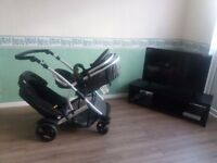 Double pushchair hauck