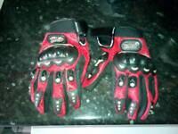 XL brand new bike helmet and large gloves