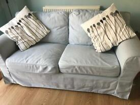 Ikea sofa with pale grey cover