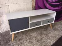 Orla Retro 1 Door, 2 Drawer TV Unit - Suitable For Televisions Up To 47 Inch