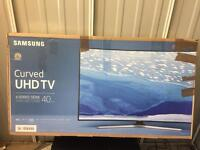 "Samsung 40"" curved 4k ultra HD smart led tv ue40ku6100"