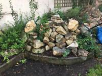 Cotswold stone boulders