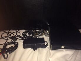 Xbox 360 and LED green controller and all cables