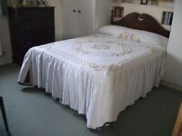 Double Floral Vintage Candlewick Bedspread