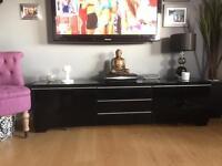 Black Hi Gloss IKEA TV cabinet