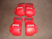 2 pairs title gym training / sparring gloves