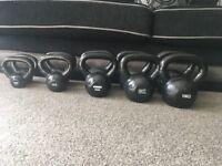 Full set of kettlebells 2-20kg in pairs