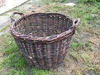 Large log wicker basket