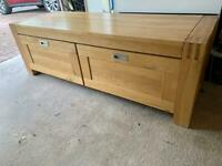 Solid real wood TV unit/ storage