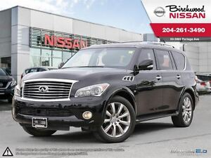2014 Infiniti QX80 4WD 4dr 7-Passenger Immaculate Trade!